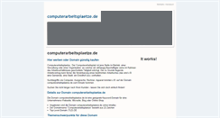 Preview of computerarbeitsplaetze.de